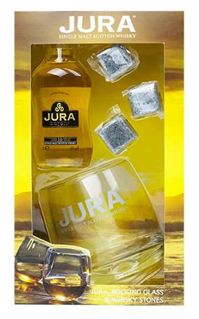 Isle of Jura 5cl with Glass and Whisky Stones Gift Pack