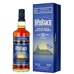 BenRiach 22 Year Old Moscatel Finish Single Malt Scotch Whisky - 70cl 46%
