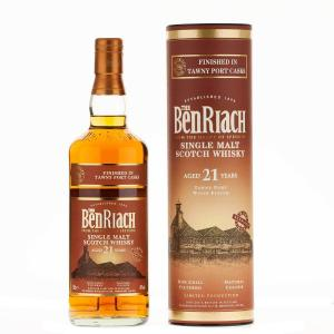 BenRiach 21 Year Old Tawny Port Cask Finish Single Malt Scotch Whisky - 70cl 46%