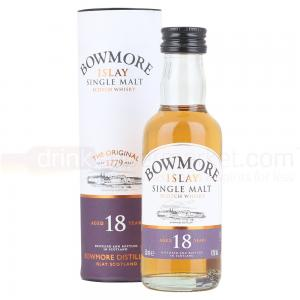 Bowmore 18 Year Old Single Malt Scotch Whisky Miniature - 5cl 43%
