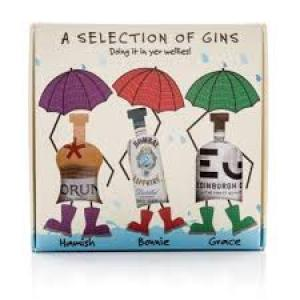 JANUARY SALE - Doin It In Your Wellies Gin Gift Set - 3 x 5cl