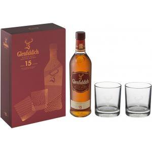 Glenfiddich 15 year old Glass Pack - 40% 70cl