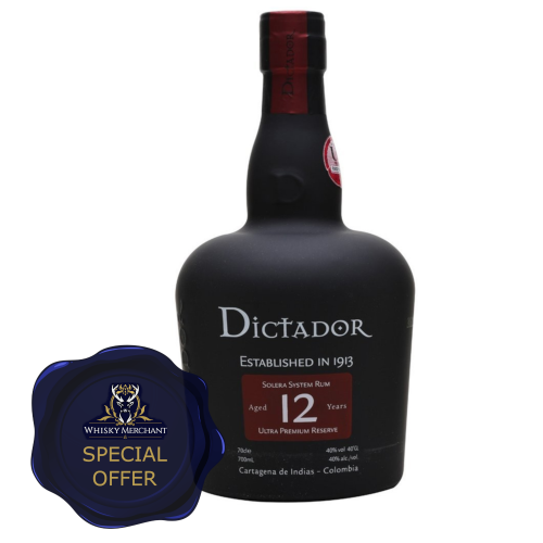 Dictador 12 Year Old Rum - 70cl 40%